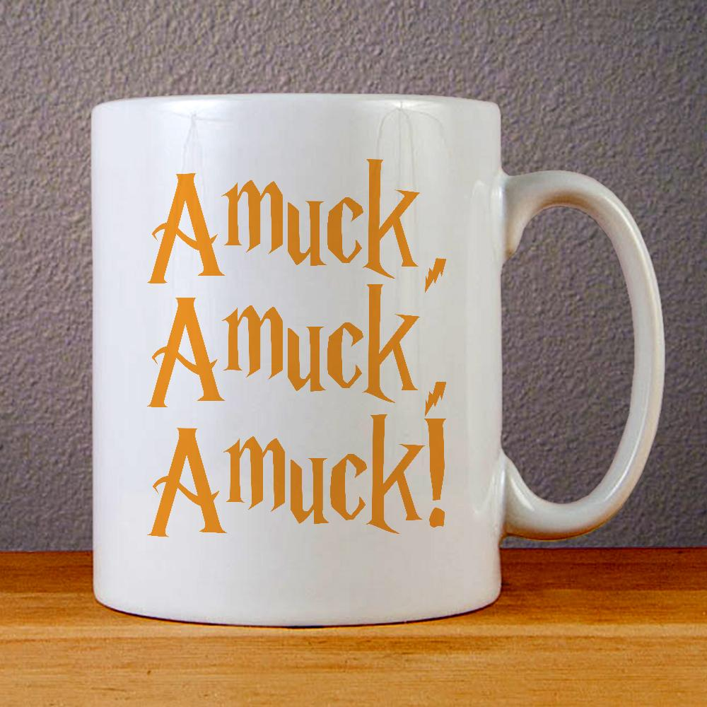 Amuck Amuck Amuck Halloween Hocus Pocus Ceramic Coffee Mugs