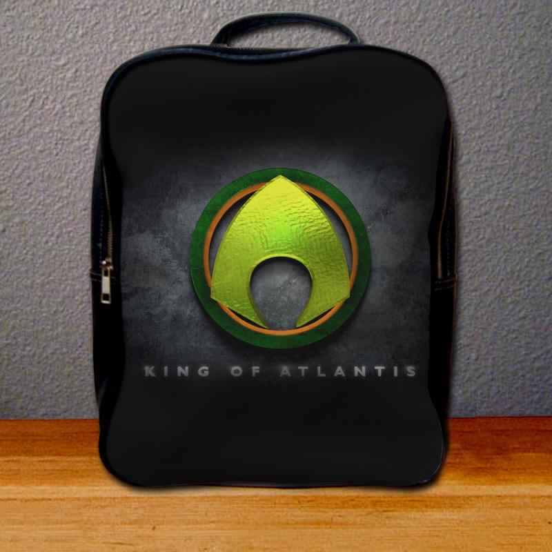 Aquaman King of Atlantis Logo Backpack for Student