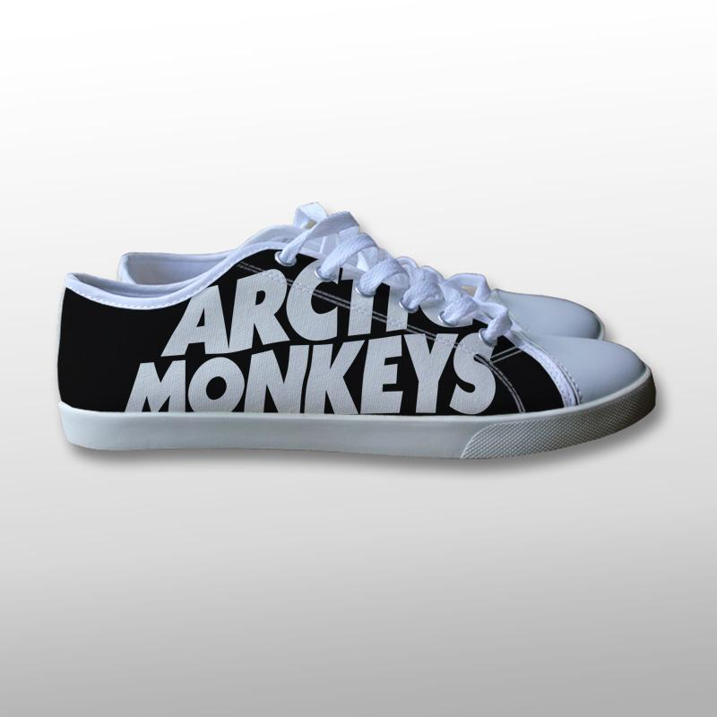 Arctic Monkeys Logo Black Canvas Shoes