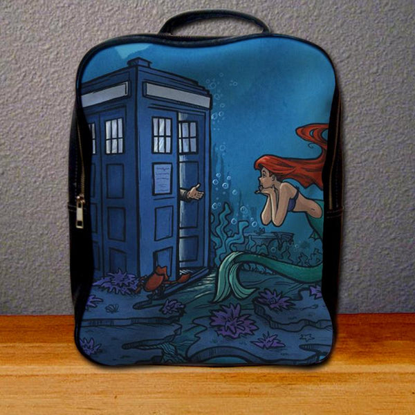Ariel Mermaid Tardis Backpack for Student