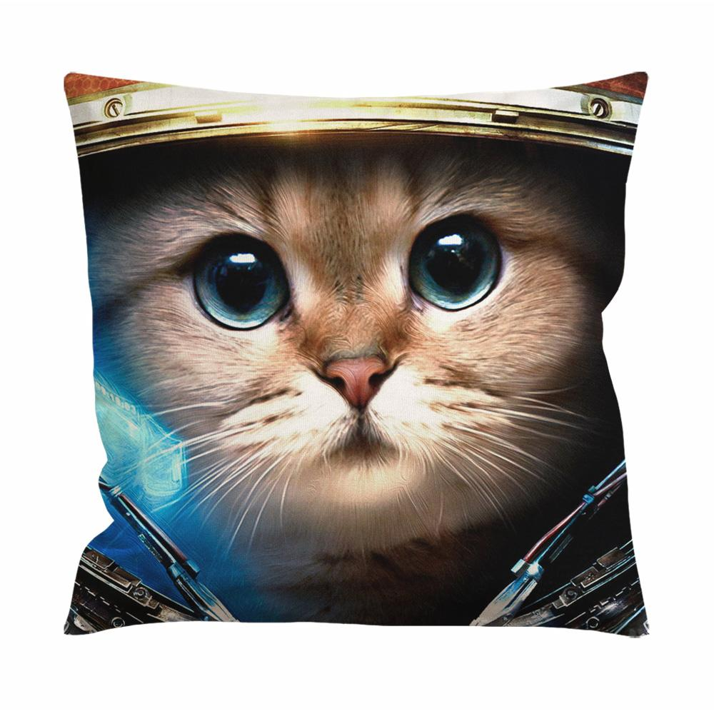 Astronaut Cat Cushion Case / Pillow Case
