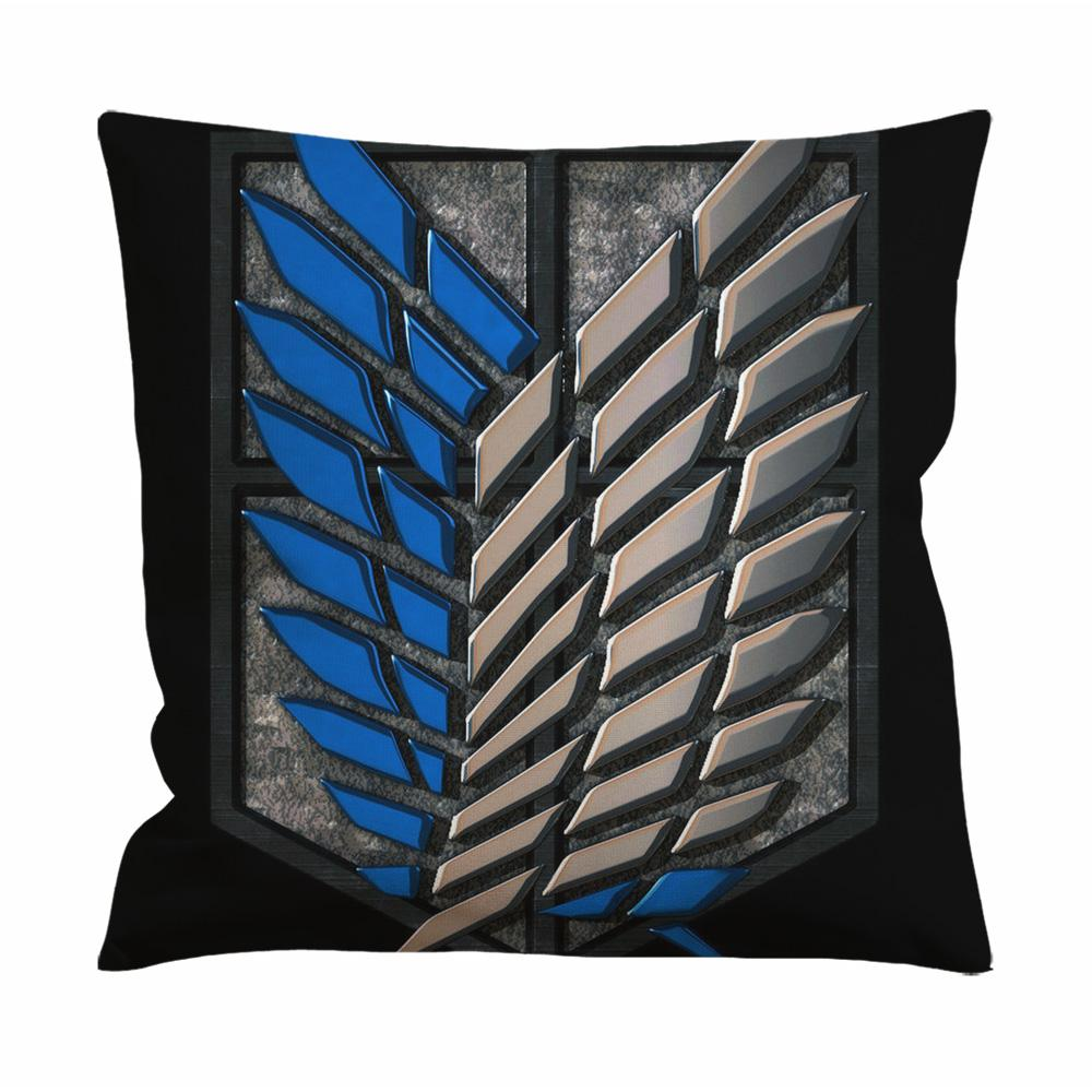 Attack on Titan 3D Logo Cushion Case / Pillow Case