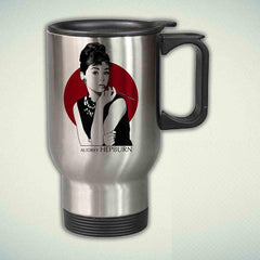 Audrey Hepburn 14oz Stainless Steel Travel Mug