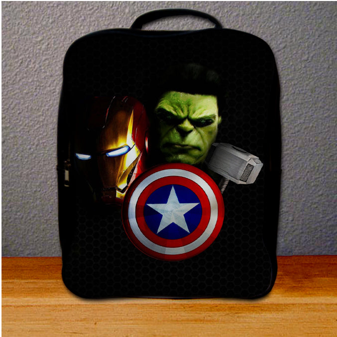 Avengers on Carbon Covers Backpack for Student