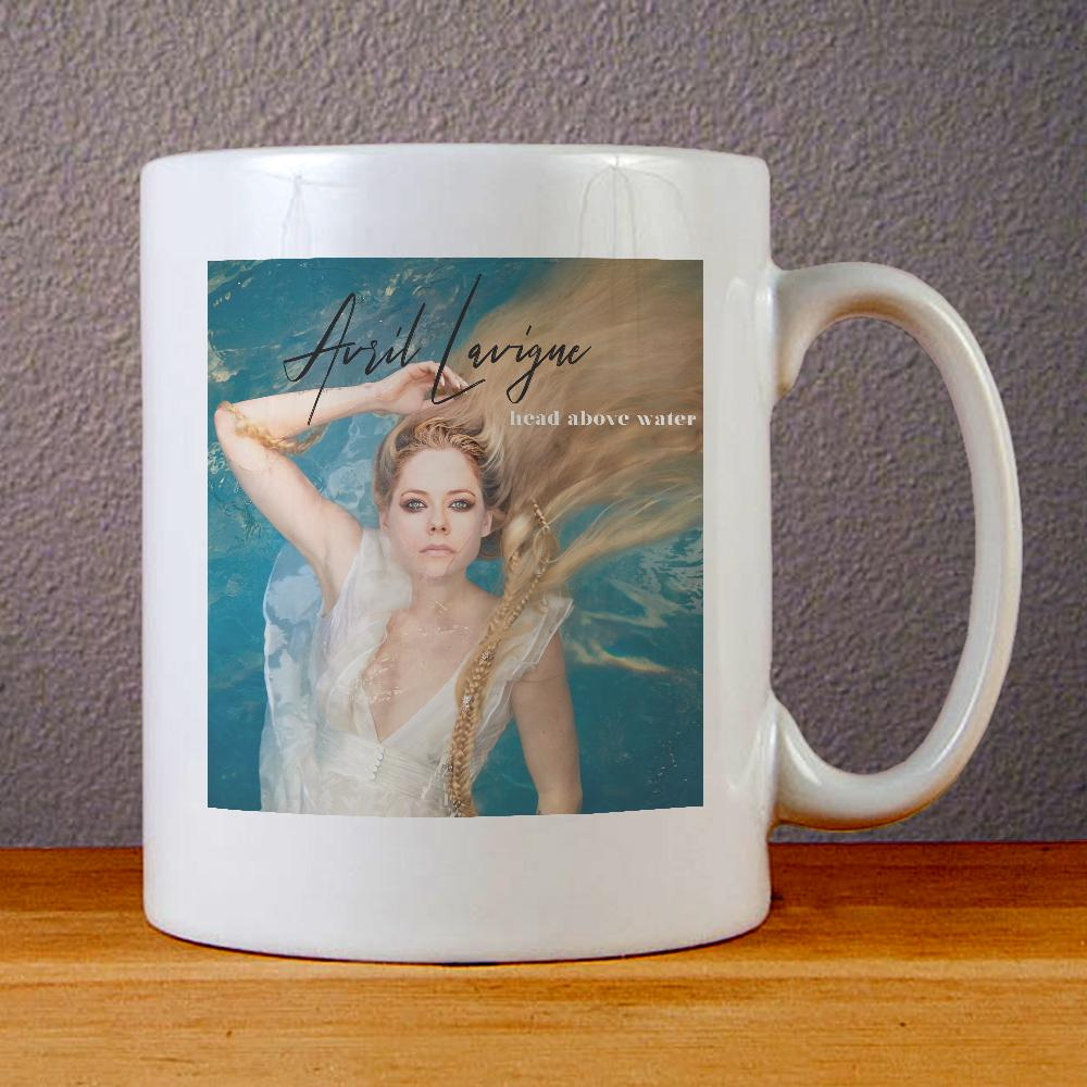 Avril Lavigne Head Above Water Ceramic Coffee Mugs