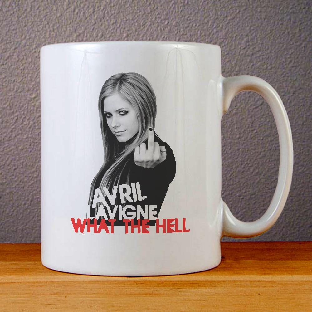 Avril Lavigne What The Hell Ceramic Coffee Mugs