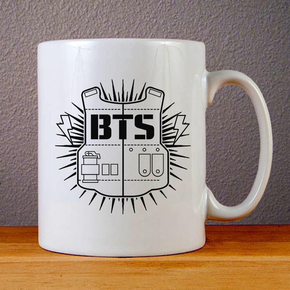BTS Logo Ceramic Coffee Mugs