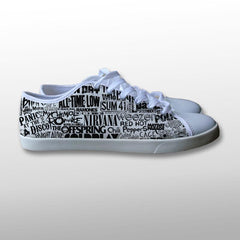 Band Collage Canvas Shoes