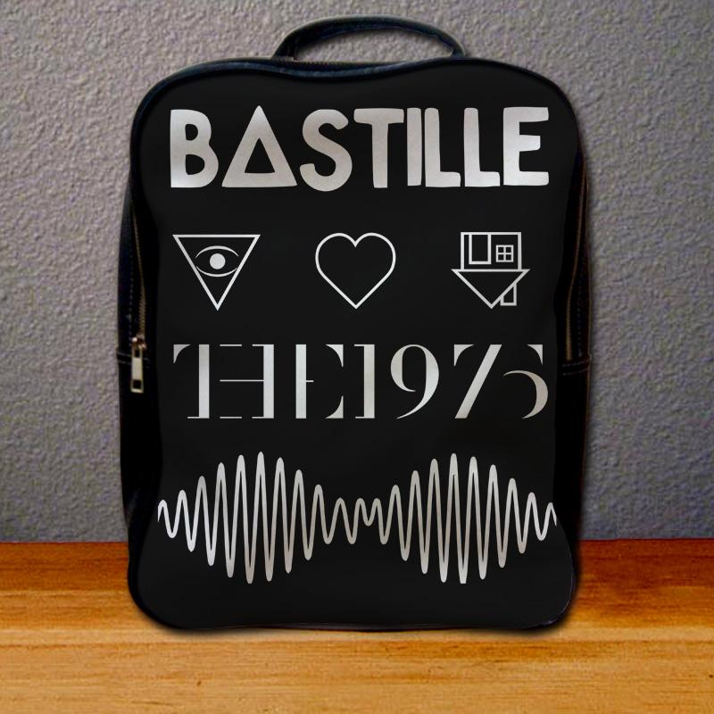 Bastille The 1975 Arctic Monkeys and The Neighbourhood Logo Backpack for Student