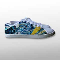 Batman Starry Night Canvas Shoes