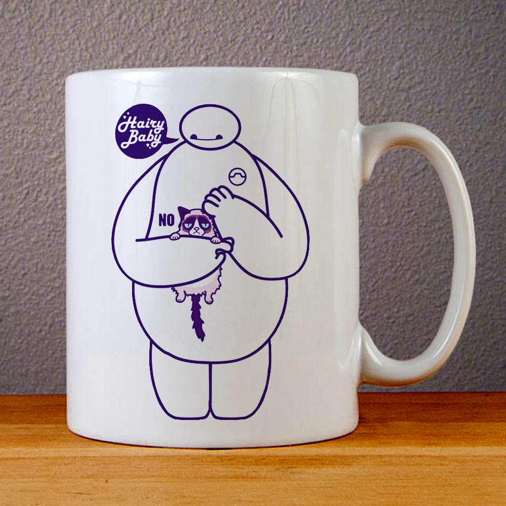 Baymax and Grumpy Cat Hairy Baby Ceramic Coffee Mugs