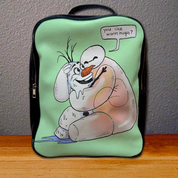 Baymax and Olaf Big Hero 6 Backpack for Student