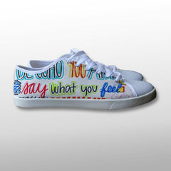 Be Who You are Quote Canvas Shoes