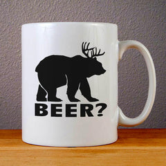 Beer Deer Ceramic Coffee Mugs