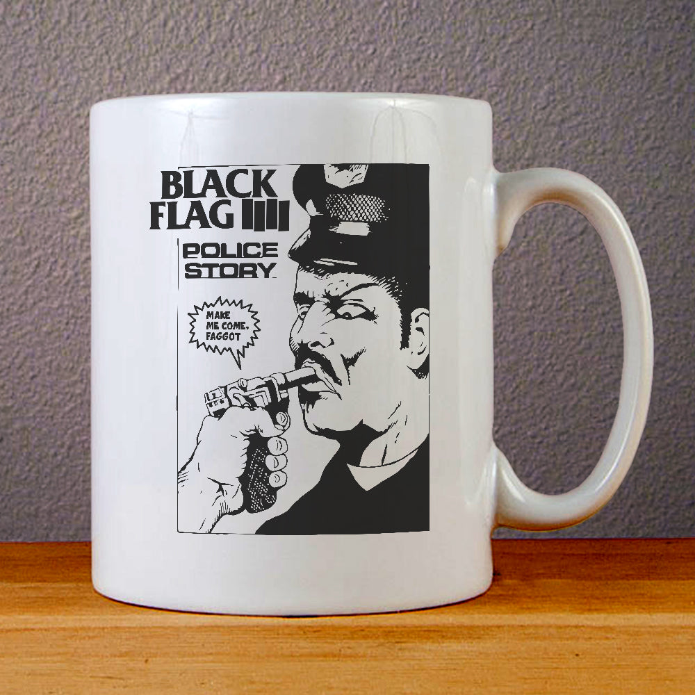 Black Flag Police Story Ceramic Coffee Mugs
