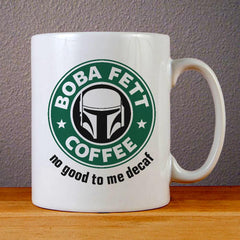 Boba Fetts Coffee Logo Ceramic Coffee Mugs