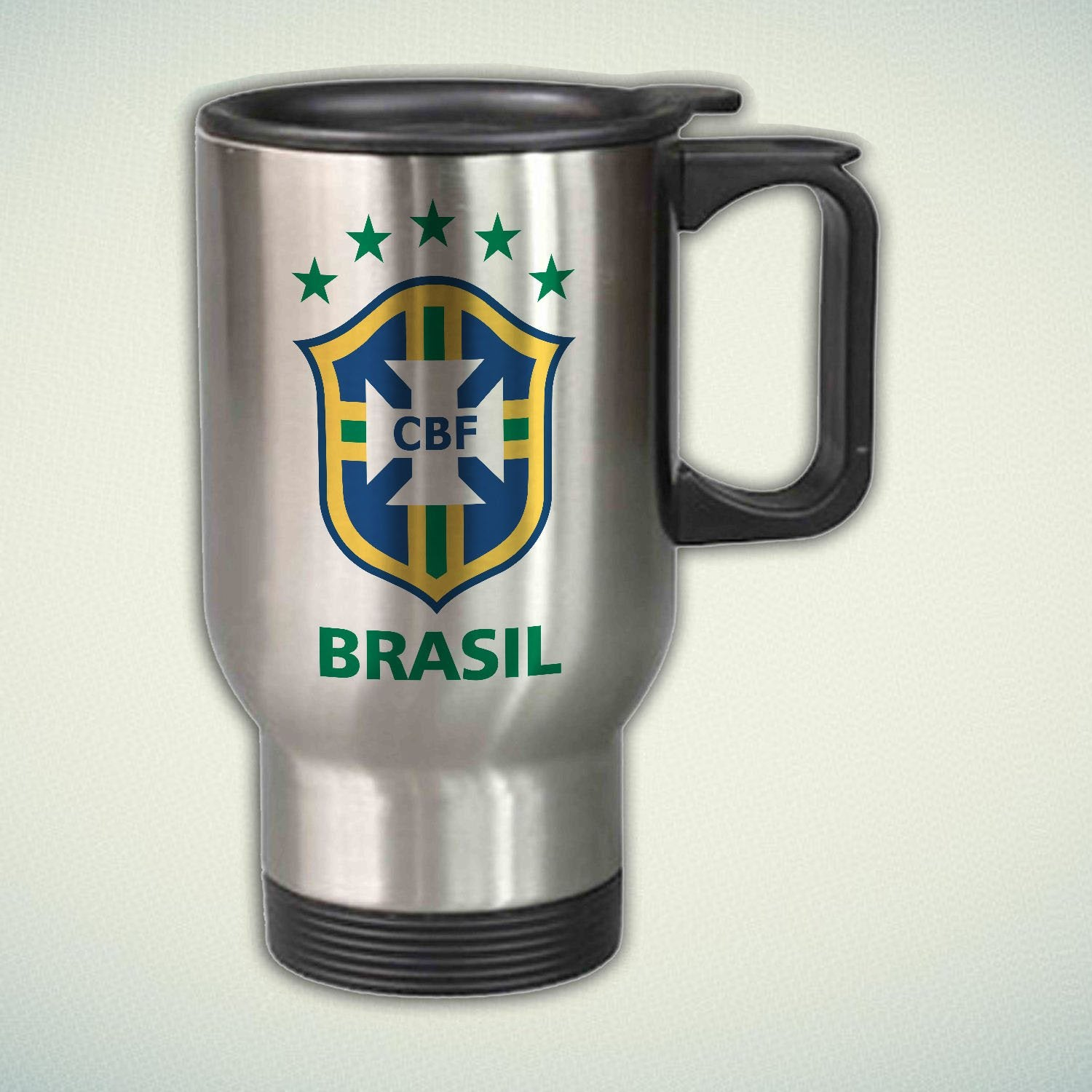Brasil CBF Logo 14oz Stainless Steel Travel Mug