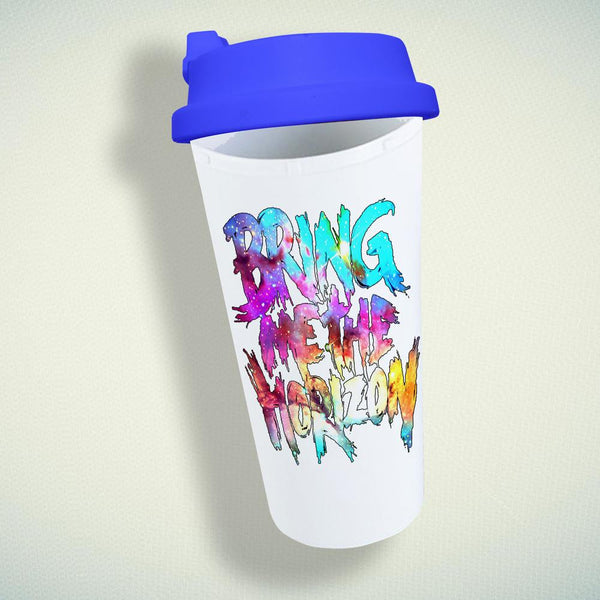 Bring Me The Horizon Logo On Galaxy Double Wall Plastic Mug