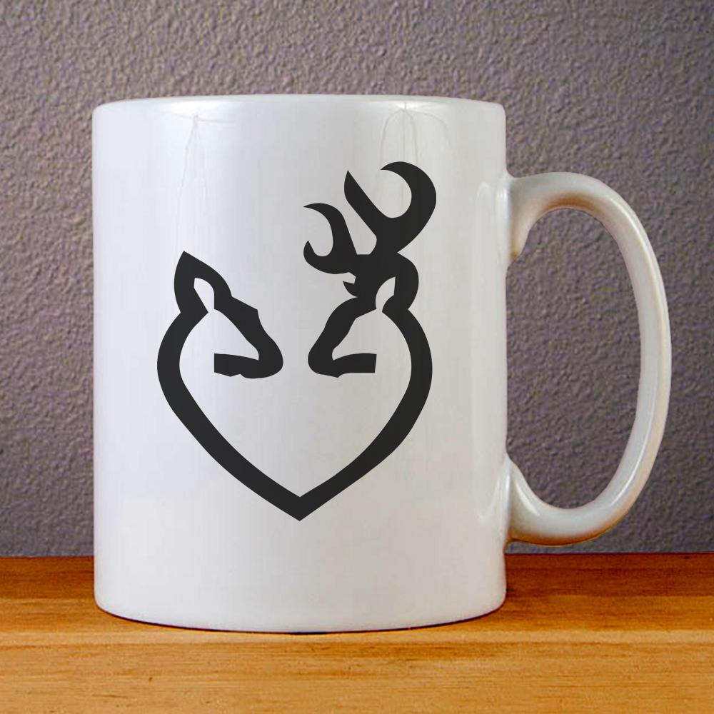 Browning Deer Love Ceramic Coffee Mugs
