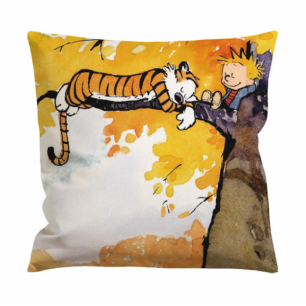 Calvin and Hobbes Sleeping Cushion Case / Pillow Case