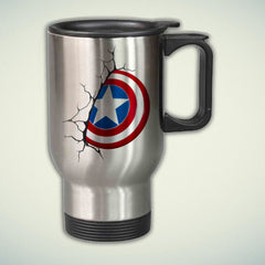 Captain America Logo 14oz Stainless Steel Travel Mug