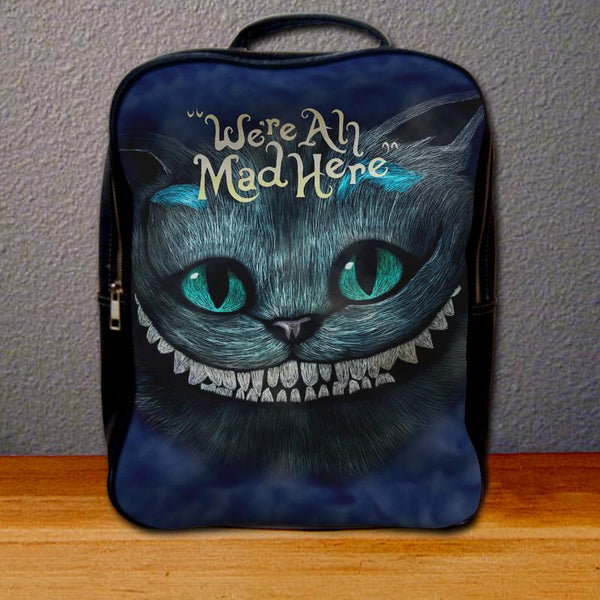Cheshire Cats Alice In Wonderland We're All Mad Here Backpack for Student