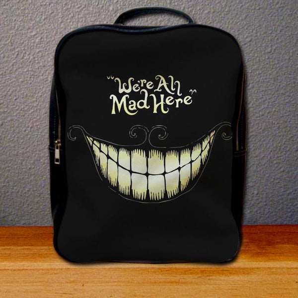 Chesire Cat We are All Mad Here Backpack for Student