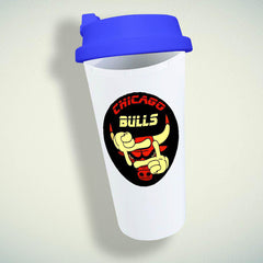 Chicago Bulls Nba Basketball Double Wall Plastic Mug