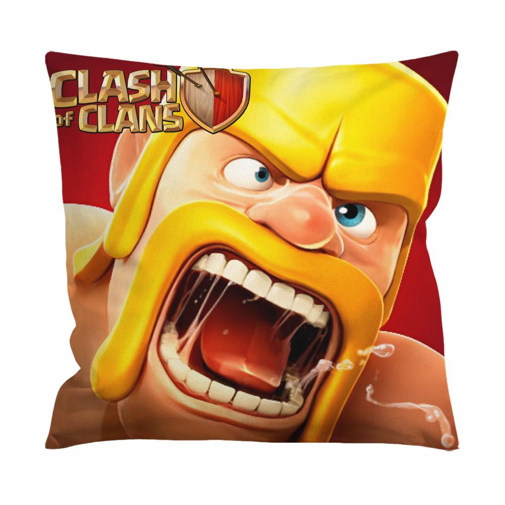 Clash Of Clans, Coc Barbarian Cushion Case / Pillow Case