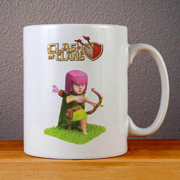 Clash of Clans Girl Archer Ceramic Coffee Mugs