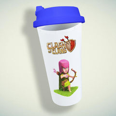 Clash Of Clans Girl Archer Double Wall Plastic Mug