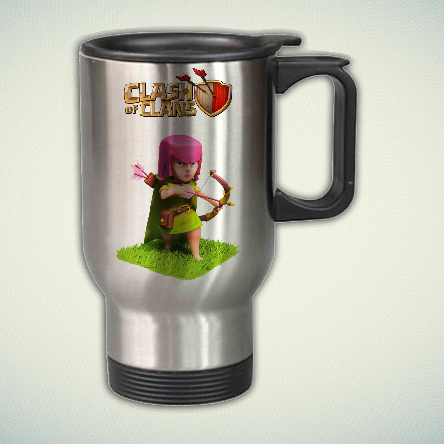 Clash of Clans Girl Archer 14oz Stainless Steel Travel Mug