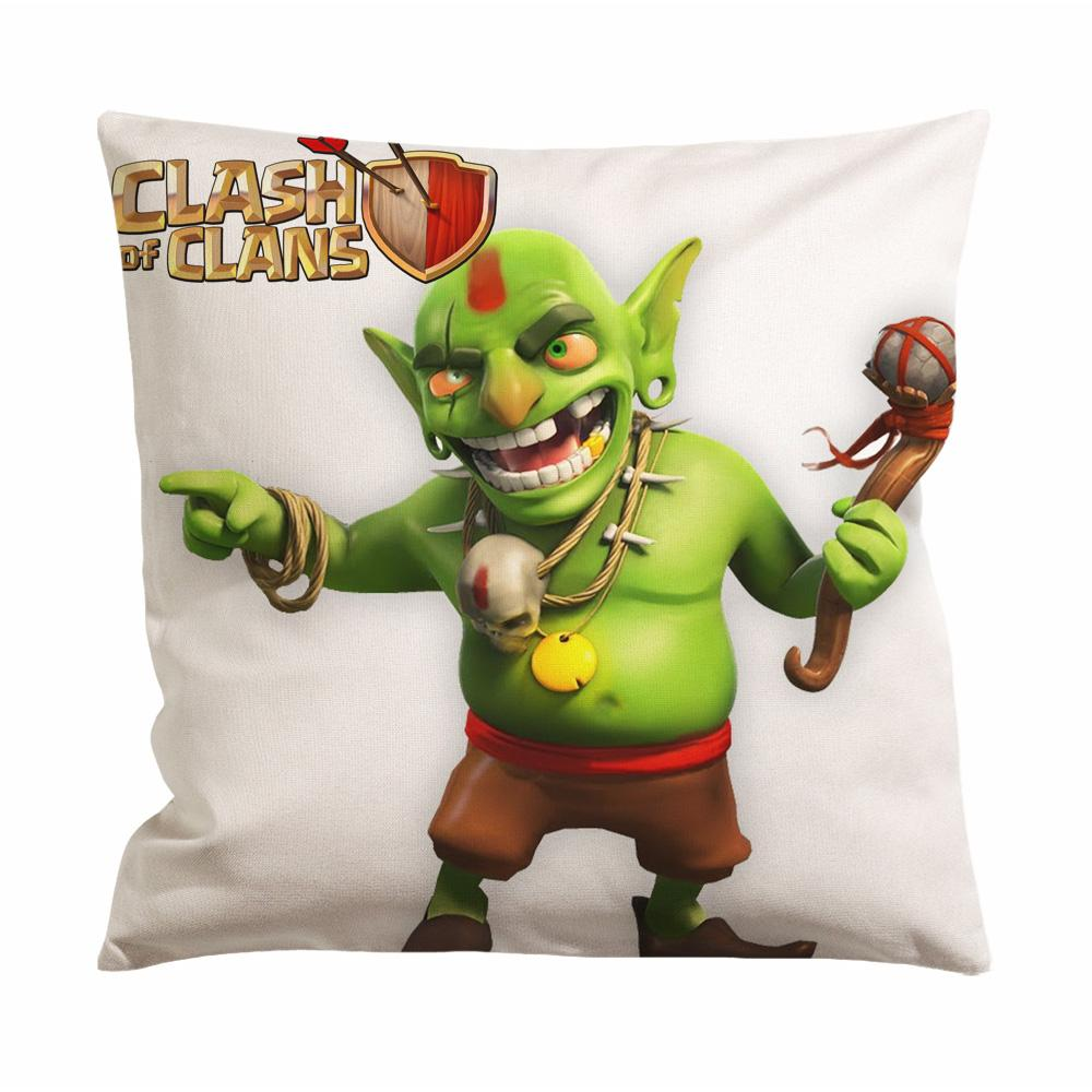Clash Of Clans Goblin King Cushion Case / Pillow Case