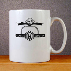 Classic Scooter Ceramic Coffee Mugs