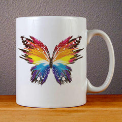 Colorful Butterfly Ceramic Coffee Mugs