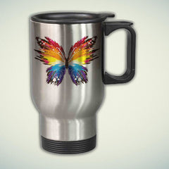 Colorful Butterfly 14oz Stainless Steel Travel Mug