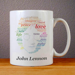 Colorful John Lennon Quotes Ceramic Coffee Mugs