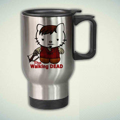 Cute Daryl Dixon, Hello Titty Funny The Walking Dead 14oz Stainless Steel Travel Mug