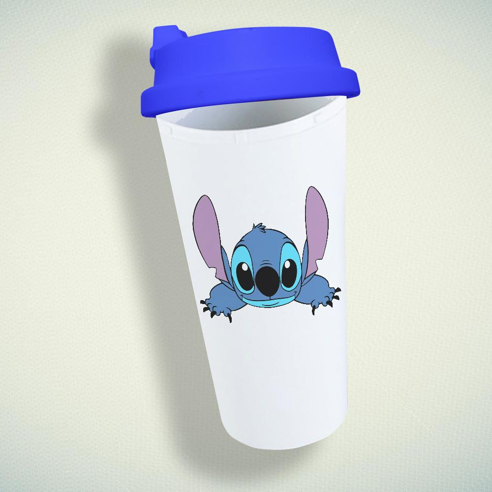 Cute Stitch Double Wall Plastic Mug
