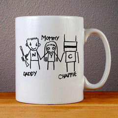 Daddy Mommy Chappie Ceramic Coffee Mugs