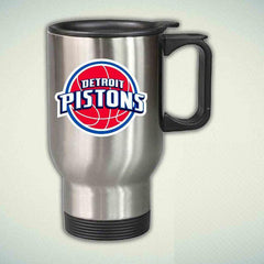 Detroit Pistons Basketball 14oz Stainless Steel Travel Mug