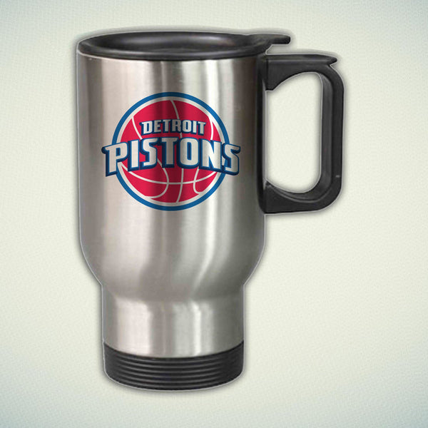 Detroit Pistons Logo 14oz Stainless Steel Travel Mug