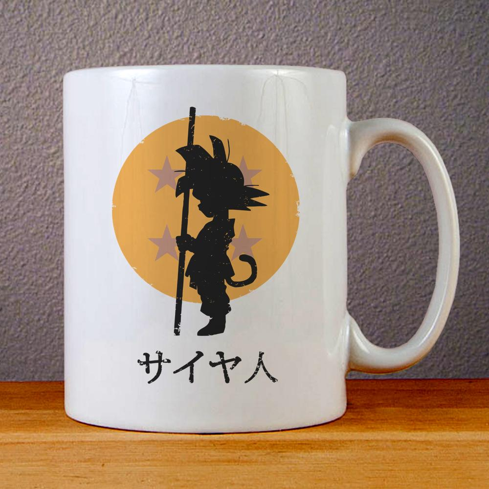 Dragon Ball Z Goku Logo Ceramic Coffee Mugs