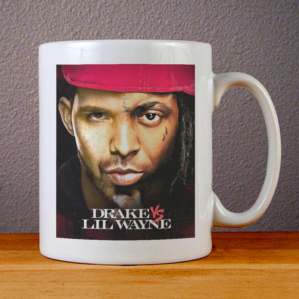 Drake VS Lil Wayne Ceramic Coffee Mugs