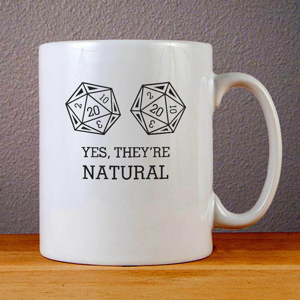 Dungeons and Dragons Yes They are Natural Ceramic Coffee Mugs