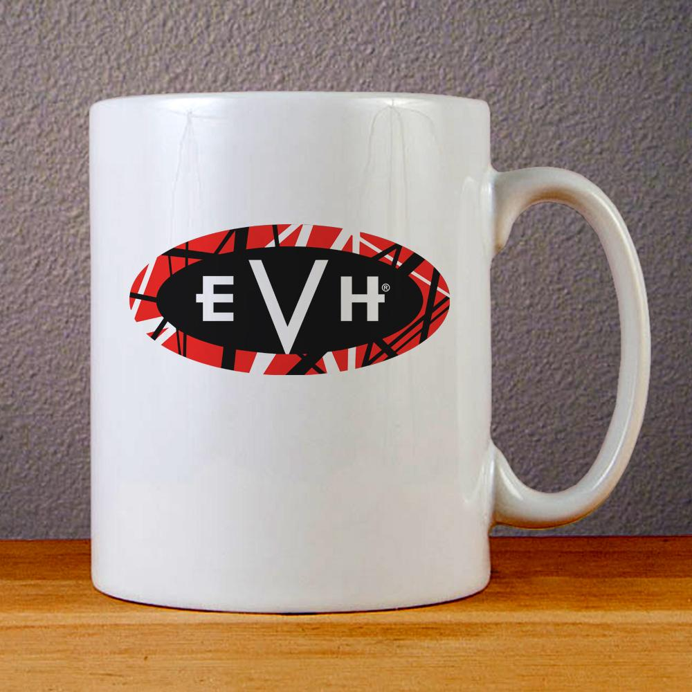 EVH Eddie Van Halen Logo Art Ceramic Coffee Mugs