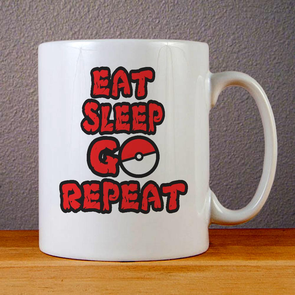 Eat Sleep Go Pokemon Ceramic Coffee Mugs