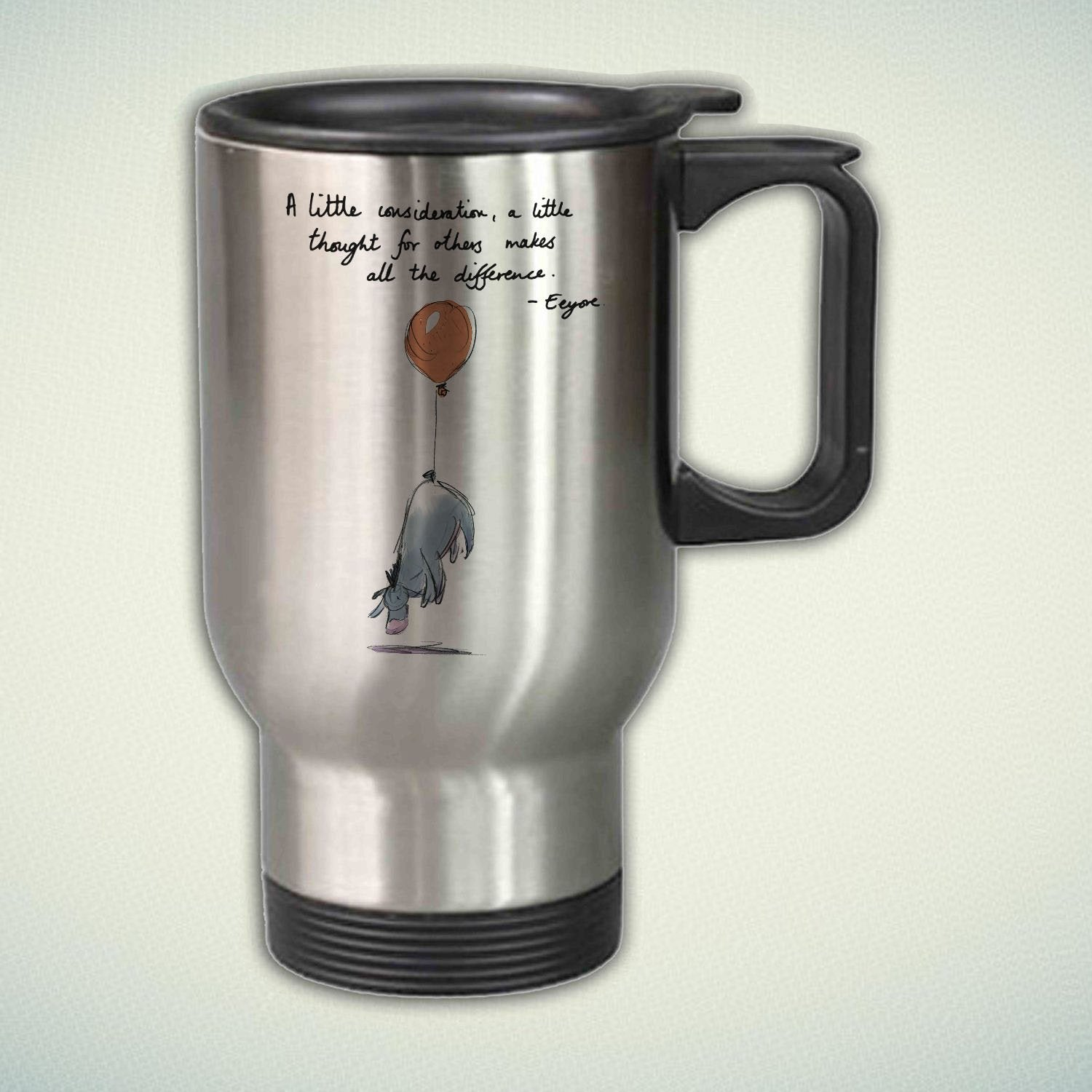 Tail Steel Giftmug Eeyore Stainless – Mug Travel Balloon 14oz 7vyYf6bg