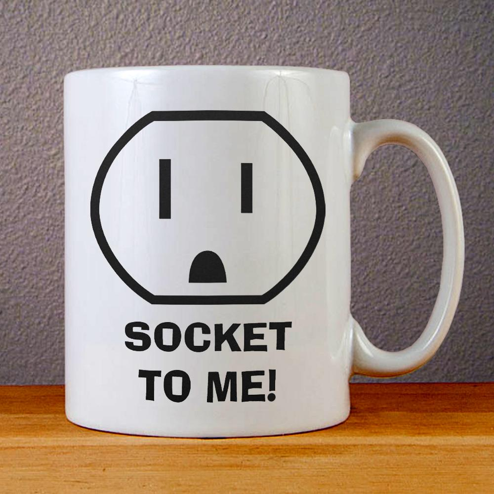Electrical Outlet (Socket To Me) Ceramic Coffee Mugs
