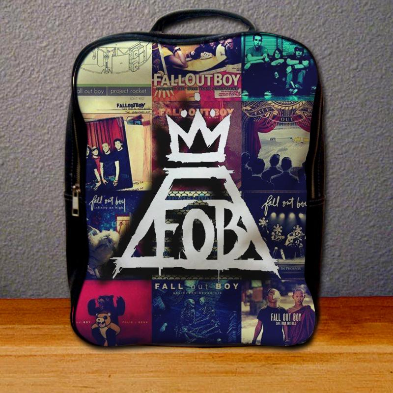 Fall Out Boy Collage Backpack for Student